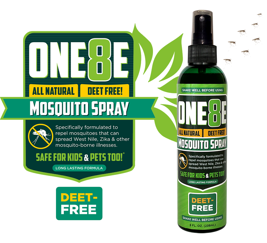 ONE8E Natural, DEET-FREE Mosquito Spray